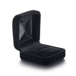 Cisne de veludo on-line-ICEY Swan caixa de jóias de pano de veludo preto caixa de jóias de moda atacado Amazon caixa de presente de varejo de varejo