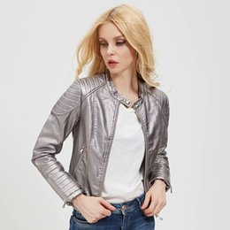 newest collection da7b1 bcfb8 Sconto Giacche In Pelle Donne Argento | 2019 Giacche In ...