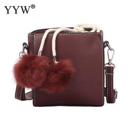 wine bag messenger Promo Codes - Fashion Women Pu Leather Handbags Casual Shoulder  Small Drawstring Crossbody bd12db374ceed