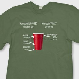 2019 tazze da party divertenti Red Solo Cup Party Come usare Funny T-shirt Beer College Humor Tee Shirt sconti tazze da party divertenti