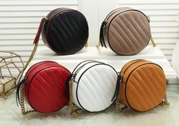 Saco cosmético branco preto on-line-Nova oferta especial rodada senhoras sarja Sacos de Ombro vermelho preto branco marrom marrom estudante saco de cosmética bolsa Moda Bolsas