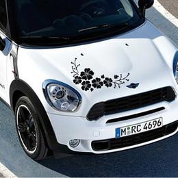 2019 autocollants de voiture emblème vw Hibiscus de voiture flotte autocollants fleurs rayures autocollants de couverture décoratifs personnalisés