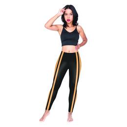 Wholesale Mulheres Leggings Listras Laranja Preto D Digital Completa Impresso Calças Lápis Sportwear Menina Treino Jeggings Senhora Macio Casuais Calças Y54430