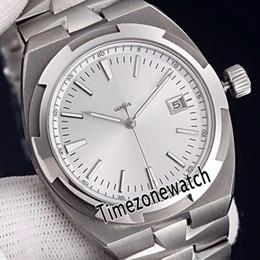 Melhor pulseira de relógio de aço inoxidável on-line-Melhor Edição No Exterior 4500V / 110A-B126 Branco Dial Cal.5100 Automático Mens Watch Sapphire Aço Inoxidável Pulseira Gents Relógios Timezonewatch