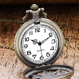 neue weiße gold taschenuhr Rabatt Vintage Bronze Steampunk-Quarz-Taschen-Uhr-Halloween Karibik-Piraten-Schädel-Kopf Horror mit Kette für Männer Halskette