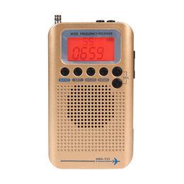 radio orologio mondiale Sconti Demodulatore digitale radio Full Band FM / AM / SW CB Air VHF Radio portatile stereo World Band con display LCD Sveglia