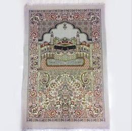 Tappeti musulmani online-Tappeto di preghiera musulmano islamico Salat Musallah Tappeto di preghiera Tappeto Tapis Tapete Banheiro Tappeto pregato islamico 70 * 110 cm KKA6802