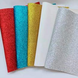 5 PCS A4 Sparkly Belas Glitter Tecido de couro falso folhas de vinil Arcos Artesanato Material de medidor Presente de Natal casamento aniversário de Fornecedores de noel de porcelana de natal