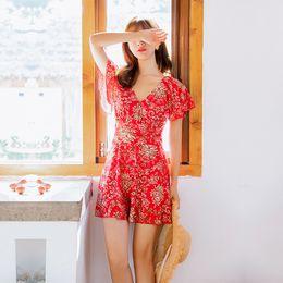 2019 Nuevo Traje de baño de una pieza Mujer Conservador Volver Gran tamaño Hot Spring Traje de baño Al por mayor Antorchas de acero Reunidos traje de baño desde fabricantes