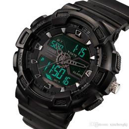 2019 skmei военные часы водонепроницаемые случайные привели SKMEI 1189 Цифровые Часы Мужские Многофункциональные Водонепроницаемые LED Военные Спортивные Часы Dual Time Аналоговые Цифровые Повседневные Мужские Наручные Часы
