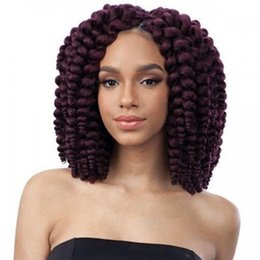 3 packs 8 inch 20 Roots / pack Jumpy Wand Curl Crochet Zöpfe Jamaican Bounce Curly Crochet Flechten Haar Vor Geschlungenen Synthetische Haarverlängerungen von Fabrikanten