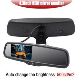 2019 espelho traseiro lcd Mais novo 4.3 polegadas OEM espelho retrovisor Suporte Especial com auto mudança brighenss Reverso espelho Carro Retrovisor TFT LCD carro dvr espelho traseiro lcd barato