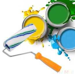 Zeichnen rollen online-Professionelle Draw Plastic Paint Rolling Pinsel Roller Malwerkzeug Set