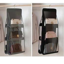 dabber de óleo de mel Desconto Hanging Bag Organizador Roupeiro transparente saco de armazenamento para Handbag Closet sapatos Organizador Porta parede Sundries Pouch