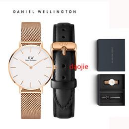 Часы Daniel Wellington dw тонкие модные черные мужские 40 мм 36 мм часы кварцевые Спортивные женские часы 32 мм Relogio Feminino Водонепроницаемые розовое золото от