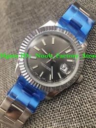 Taucheruhr saphir online-5 Farben 41MM Mens Automatic 2813 Bewegung Uhr Vollstahl Herrenuhren Sapphire Dive 41MM 116334-0005 Datum nur Armbanduhren Herrenuhren