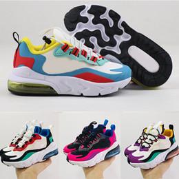 zapatos de kevin durant para niños Rebajas Nike air max 270 React Kid shoes zapatos de baloncesto para niños 27s lobo gris niño deporte zapatillas para la muchacha del muchacho del niño Chaussures Pour Enfant