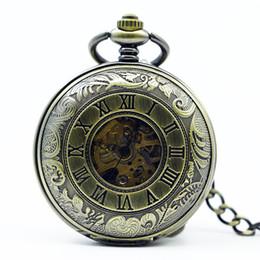 Antiga, lupa on-line-Preço de atacado de boa qualidade antigo retro homem leitura lupa relógio de bolso mecânico colar hora