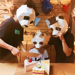 3D Bulmaca Kağıt Stereo Hayvan Maskesi El yapımı DIY Serbest kesim Dans Parti Noel Hediyeleri Oyuncaklar Başlık Modeli Sahne Cadılar Bayramı Cosply Kostümleri nereden telefon motosikleti tedarikçiler