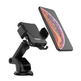 2019 sumsung new phone Suporte de alta qualidade do telefone do carro que monta a indução automática do painel do apoio do suporte Apropriado para os dispositivos que apoiam o carregamento sem fio
