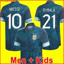 Jerseys uniformes argentina on-line-2020 Argentina camisa de futebol Copa América camisa de futebol fora MESSI DYBALA AGUERO LO CELSO MARTINEZ TAGLIAFICO Uniformes para homens e crianças