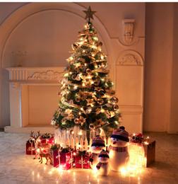 santa claus decoraciones para árboles de navidad Rebajas Árbol de navidad Papá Noel Muñeco de nieve Campana de copo de nieve Decoraciones colgantes Colorido Festival del hogar Adornos navideños Colgantes HHA561