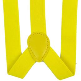 homens laço laço clipes atacado Desconto Lady mulher ajustável metal braçadeira suspensórios elásticos - amarelo