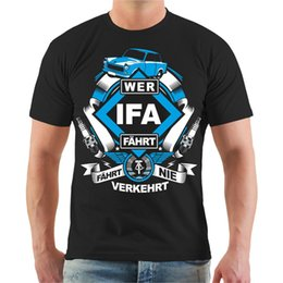T-shirt Wer Ifa Ddr Osten Ostdeutschland Ossi S - 3xl Spruch T-shirt à manches courtes Tops Livraison Gratuite Summer Fashion ? partir de fabricateur