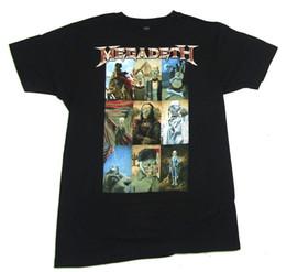 Доставка картин онлайн-Megadeth Vic Classic Art Paintings Изображение Черная Футболка Новый Официальный Группа Merch Man Женщины Унисекс Мода Футболка Бесплатная Доставка черный