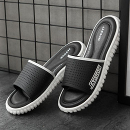 size adult shoes Coupons - Large Size Shoes Women Slippers Soft Anti-skid Design Breathable Outdoor Bathroom Slippers New Stylish Adult Male Sandals Hollow