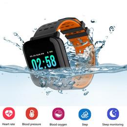 podómetro medidor de pulso Rebajas Presión arterial A6 Pulsera inteligente Pantalla grande a color rastreador de ejercicios Contador de actividad Monitor de actividad reloj inteligente para Hombre mujer