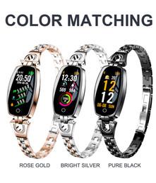 H8 женщины умные часы fitbit браслет Монитор сердечного ритма артериальное давление кислорода в крови смарт-группа лучший подарок для леди рк apple watch cheap h8 smart band от Поставщики h8 смарт группа