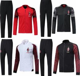 tuta sportiva milanese Sconti 2018-2019 AC Milan tuta giacca tuta sportiva 18-19 CALHANOGLU Completa tuta sportiva giacca da calcio con cerniera