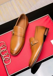 designer, casamento, mens, paleto Desconto Pontas dos pés cinto prendedor mens marrom terno sapatos fivelas de metal designer masculino vestido de noiva sapatos Hombre 38-45