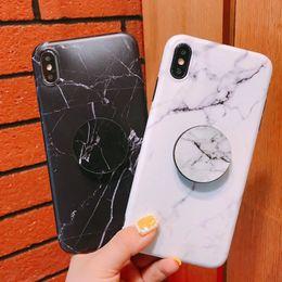 2019 borsa del cellulare di neoprene Custodie in marmo per telefono Supporto per cavalletto flessibile Morbido TPU anti-shock per cover posteriore protettiva per Apple iPhone X Xs XR Xs max 7 7p 8 8p 6s plus