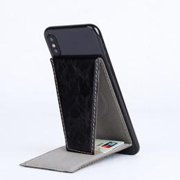 smart inhaber iphone Rabatt PU-Leder-Handy-Rückhalter-Karten-Set für iPhone Smart Phone Portable Faltbare Karten-Set Multifunktions-Bits Kreditkarteninhaber