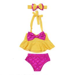 b665536bd7 2t swimwear girls ruffles UK - Baby Girl Swimwear Newborn Kids Mermaid Bikini  Set Two Pieces