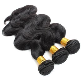 2019 marcas de tejido de cabello humano Cuerpo Ondas del cabello Ondas Mujer Brasil Natural Negro Sin procesar Rizos de cabello humano Extensión media del pelo largo virginal