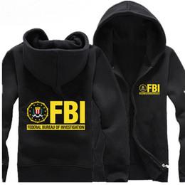 abrigos fbi Rebajas Hombres CIA Abrigo de algodón con capucha Sudadera con capucha del FBI Sudadera con capucha Novedad de moda Chaqueta de invierno