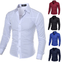 2f32f149 Men Luxury Stylish Formal Shirt Men Dress Casual Luxury Shirts Regular Fit  2019 Hot Sale Shirt