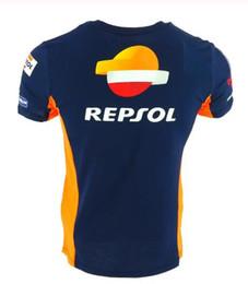 2019 motos repsol Motocicleta Motocicleta Camiseta de motocross Equitación Transpirable para el equipo Repsol Gas Moto Gp Team Camisetas sensación de frío motos repsol baratos