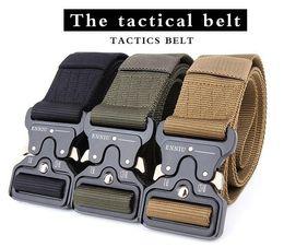 Argentina Molle Tactical Buckle Sling Belt Hombre Hombre Senderismo Escalada al aire libre Duty Support Nylon Belt 4.5CM Suministro