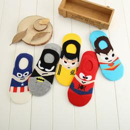 Superman Batman Capitão EUA clássico dos desenhos animados verão estilo feliz meias personagem padrão super-heróis meias super hero homem dos desenhos animados meias de