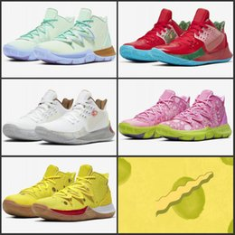 2019 almofadas florais roxas Nova Kyrie Esponja Bob Homens Sapatos de Basquete 5s Kyrie Irving 5 Lula Molusco Oreo Amigos Patrick Sneakers Tamanho 40-46