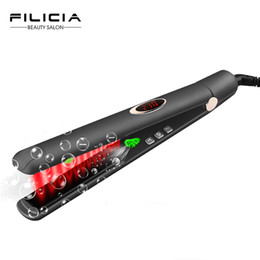 negative plate Coupons - Ceramic Plate Hair Styling Infrared and Negative ion Flat Iron Straightening irons Hair Straightener