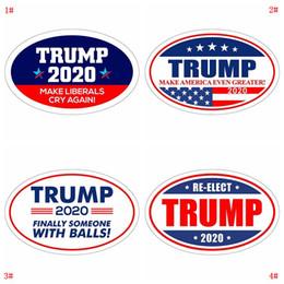 etiquetas do carro da forma Desconto Etiqueta De Donald Trump Adesivo De Geladeira 2020 Adesivos De Parede Da Eleição Presidencial Manter Fazer A América Grande Decalque Adesivos Para O Carro DBC VT0515