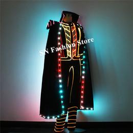 61b269de86b 2019 vêtements en fibre optique TC-207 danse de salon de couleur polychrome led  costumes