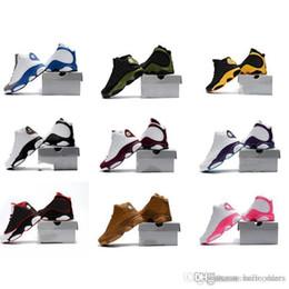 201e43d51ac78 2018 Enfant 13S Garçons Filles 13 XIII Sneakers Jeunes Enfants Sport  Basketball Designer Designer Chaussures Magasin En Ligne Pour La Vente  Taille