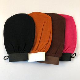 tanning mitts Coupons - Morocco bath gloves scrubbing exfoliating gloves hammam scrub mitt magic peeling glove exfoliating tan removal mitt(normal coarse feeling)