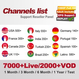 Abbonamento IPTV 7000 + LIVE TV e VOD Abonnement Iptv Francia Europa Regno Unito Arabo tedesco Belgio Svezia Iptv Set Top Box supplier iptv set top boxes da iptv set top box fornitori
